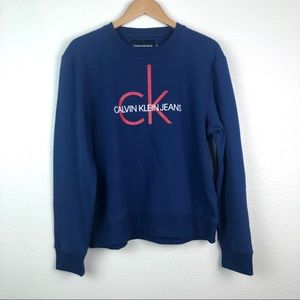 Calvin Klein spell-out crew neck sweatshirt, XL